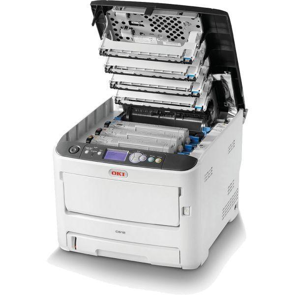 OKI c612n Renkli Lazer Yazıcı 02 600x600