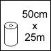 50cm x 25m